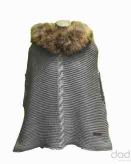 Bella Bimba Capa AMITY gris punto gordo trenza pelo marmota