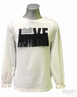 Sarabanda camiseta chica flecos LOVE