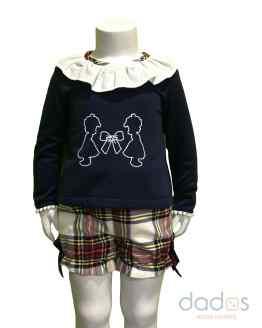 Marta y Paula colección Barbra conjunto niña escocés