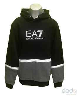 Armani EA7 sudadera chico combinada gris y negro