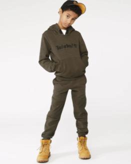 Timberland sudadera chico verde kaki bolsillo central