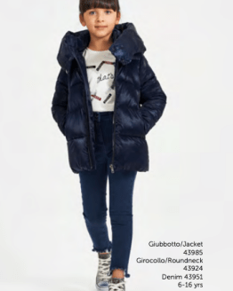 IDO chaquetón chica térmico azul navy