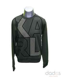 Karl Lagerfeld sudadera chico verde maxi letras