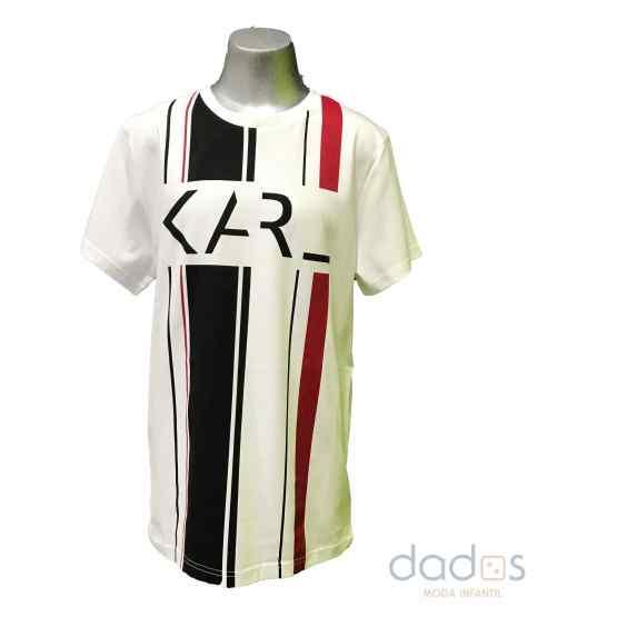Karl Lagerfeld camiseta chico rayas centrales