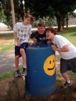 Four Happy Faces