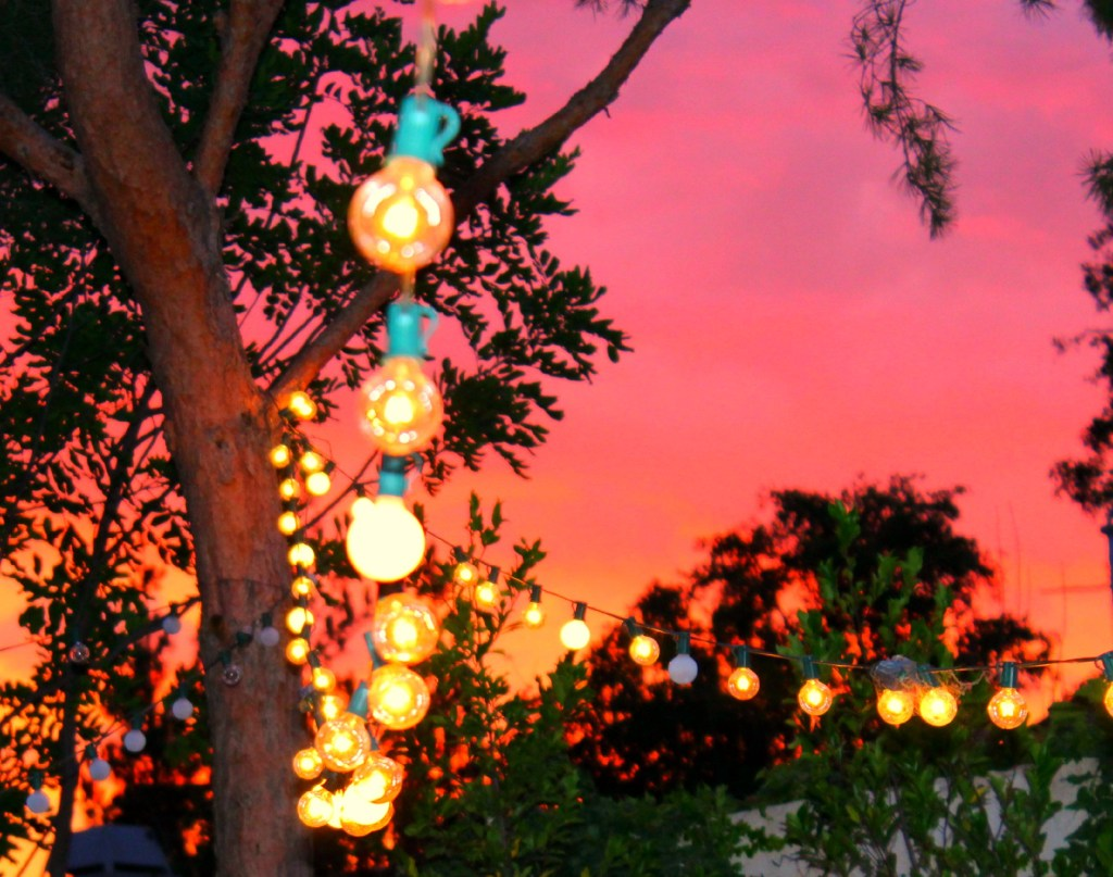lights and sunset