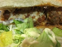Meatball parm sub - Photo by Mark H. Anbinder