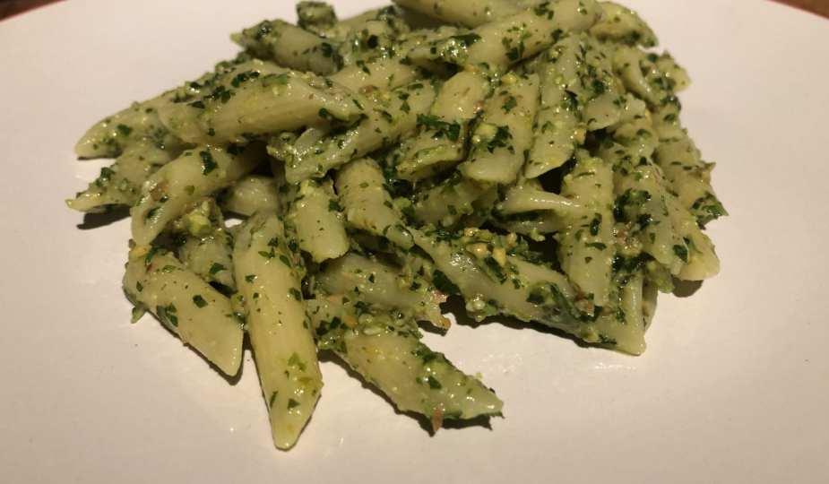 Vegan Herb and Pistachio Pesto Pasta