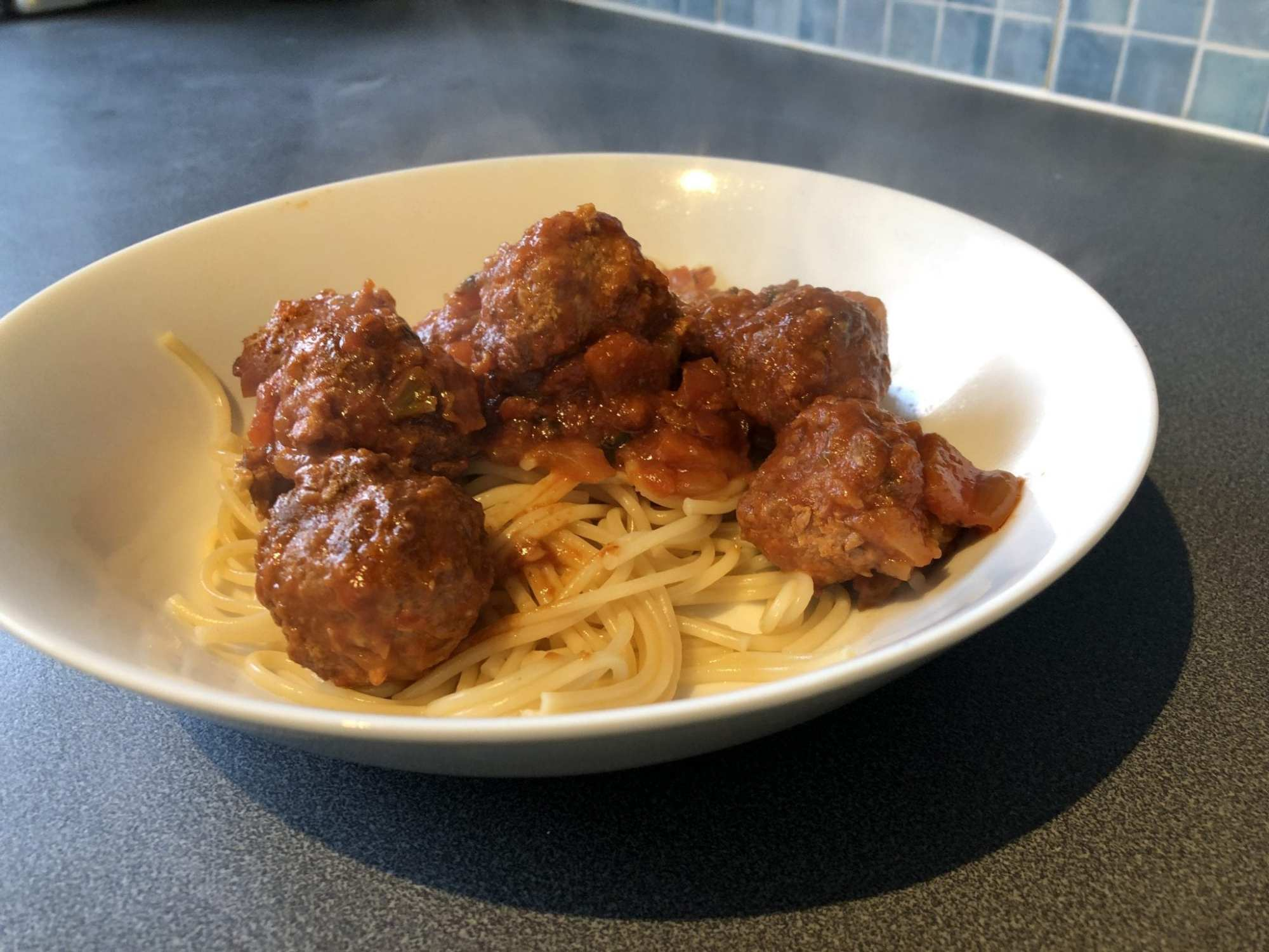 Slow cooker turkey meatballs with pasta