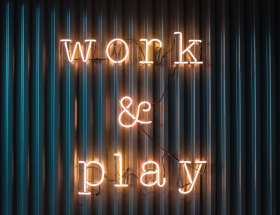 work and play sign