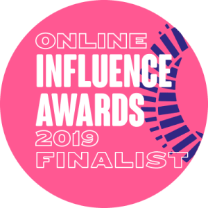 Finalist in the Vuelio Online Influence Awards 2019