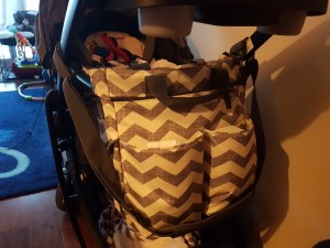 Not suitable for dad's diaper bag
