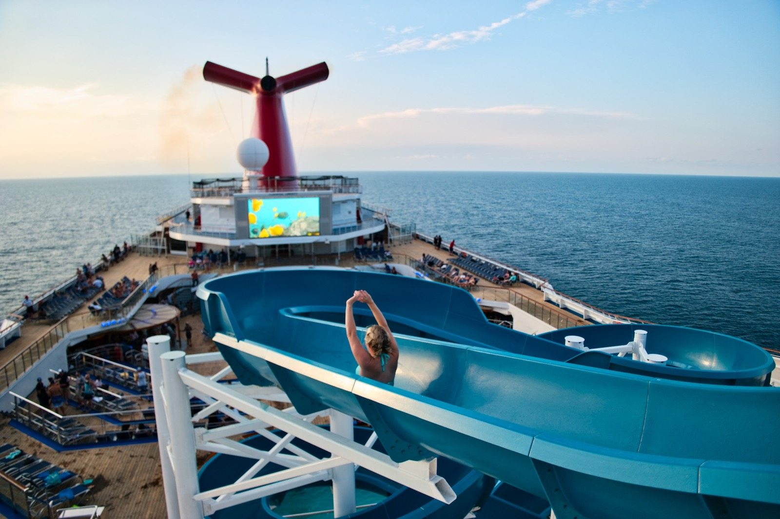 Carnival Liberty Review - Pool Water Slide - 00003
