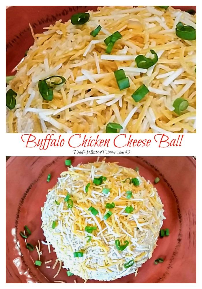 Buffalo Chicken Cheese Ball | https://dadwhats4dinner.com