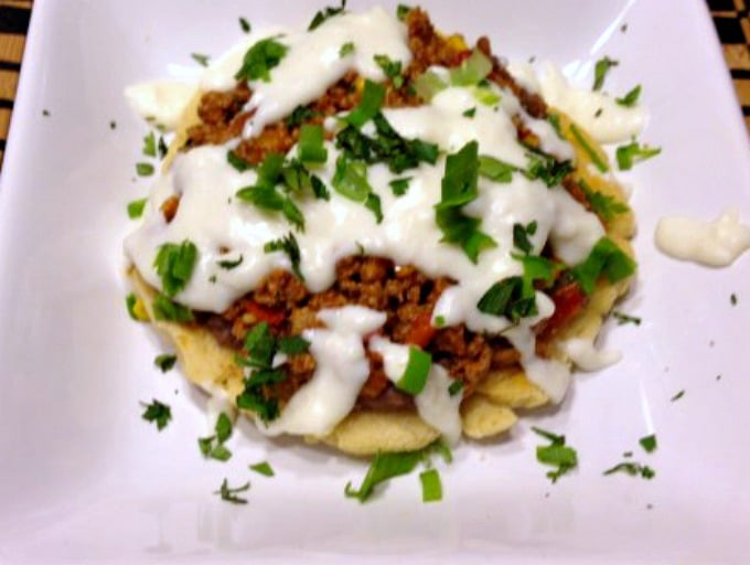 Mexican Ground Turkey Sopes