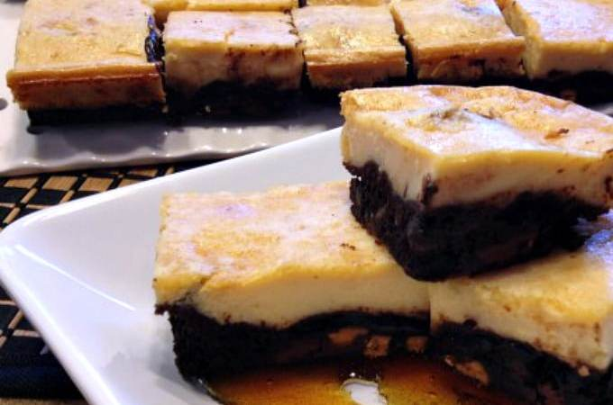 Mexican Cheesecake Flan Brownie