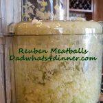 Reuben Meatballs | http://dadwhats4dinner.com