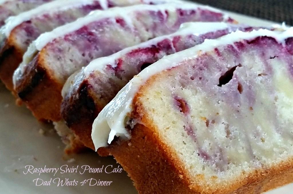Raspberry Swirl Pound Cake | www.dadwhats4dinner.com