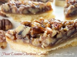 Pecan Diamond Shortbread Cookies 2