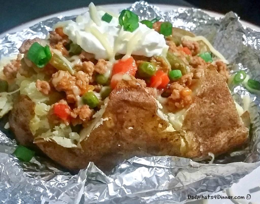 Beefy Volcano Potatoes