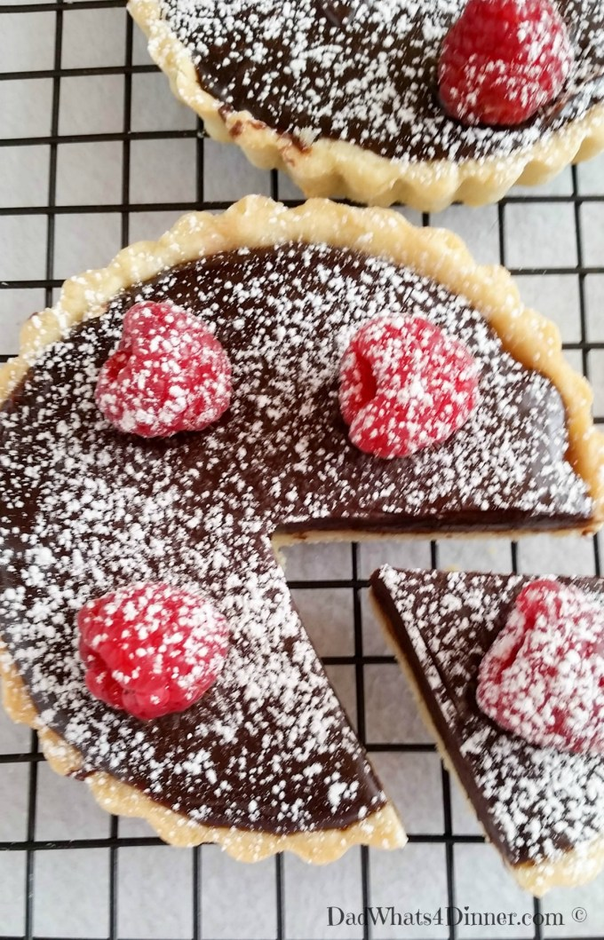 If you want to impress your significant other, make this Chocolate Raspberry Tart. The ultimate Valentine's Day dessert!   https://dadwhats4dinner.com