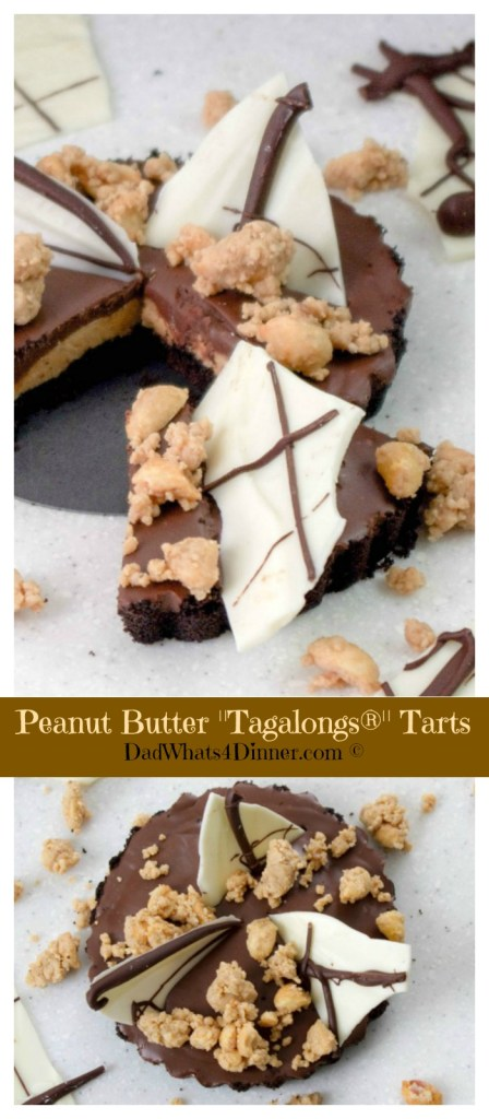 """Keep your Girl Scout cookie fix going long after you have thrown the boxes away with my Peanut Butter Tarts """"Tagalongs"""" . Peanut butter, chocolate, and a chocolate wafer crust, can't be beat."""