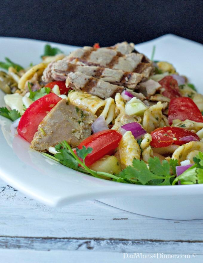 Grilled tuna pasta recipe