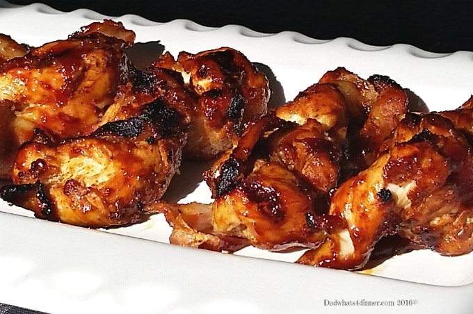 Bacon Wrapped Chicken Fire Sticks is a great grilled appetizer, perfect for summer time entertaining.
