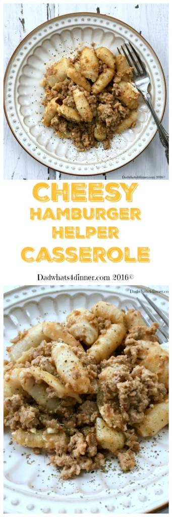 No need to go to the store when you can make your own Cheesy Hamburger Helper Casserole at home.