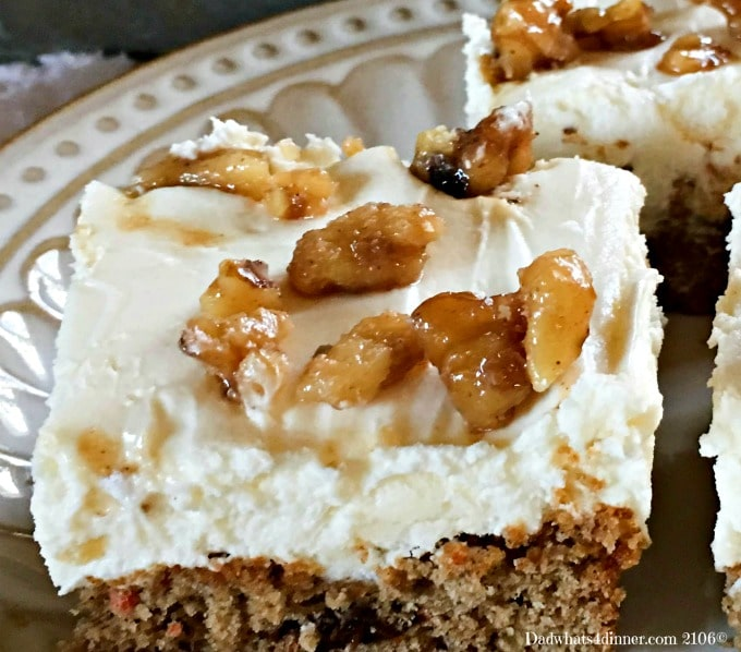 Carrot Cake Bars with Cream Cheese Frosting. Simple and delicious!
