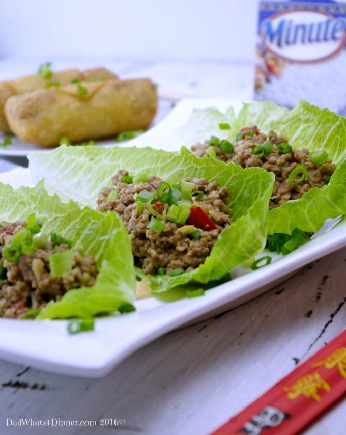 Slow Cooker Ground Turkey Asian Lettuce Wraps