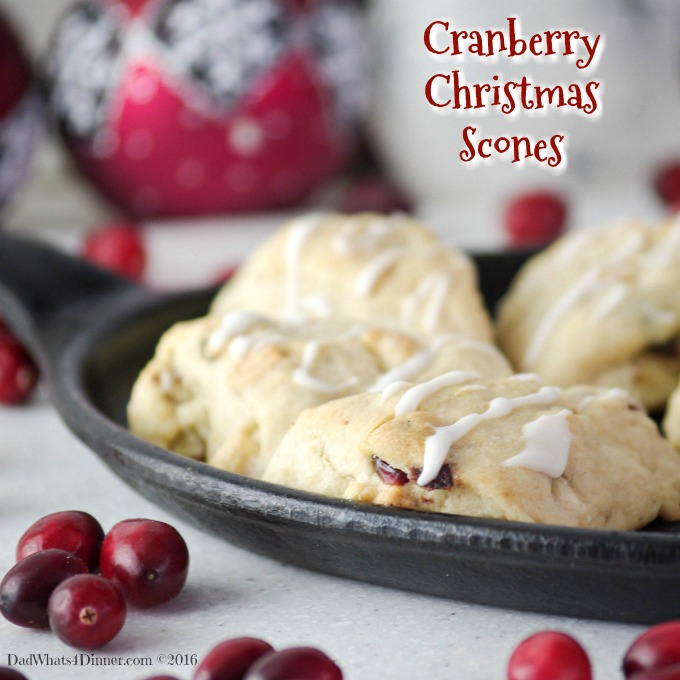 Cranberry White Chocolate Scones are the perfect treat for Christmas morning or anytime of the year. Flaky, sweet and tart all in one bite size scone!