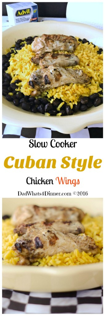 Citrus flavored Slow Cooker Cuban Style Chicken Wings bings you the taste of Islands with just enough heat and grilled to perfection!