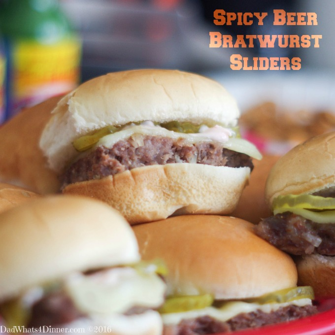 Spicy Beer Bratwurst Sliders and Homegating Tips