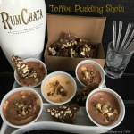 These Toffee Pudding Shots combine the flavors of sweet buttery flavor of caramel toffee with layers of chocolate. almonds and some Christmas cheer.