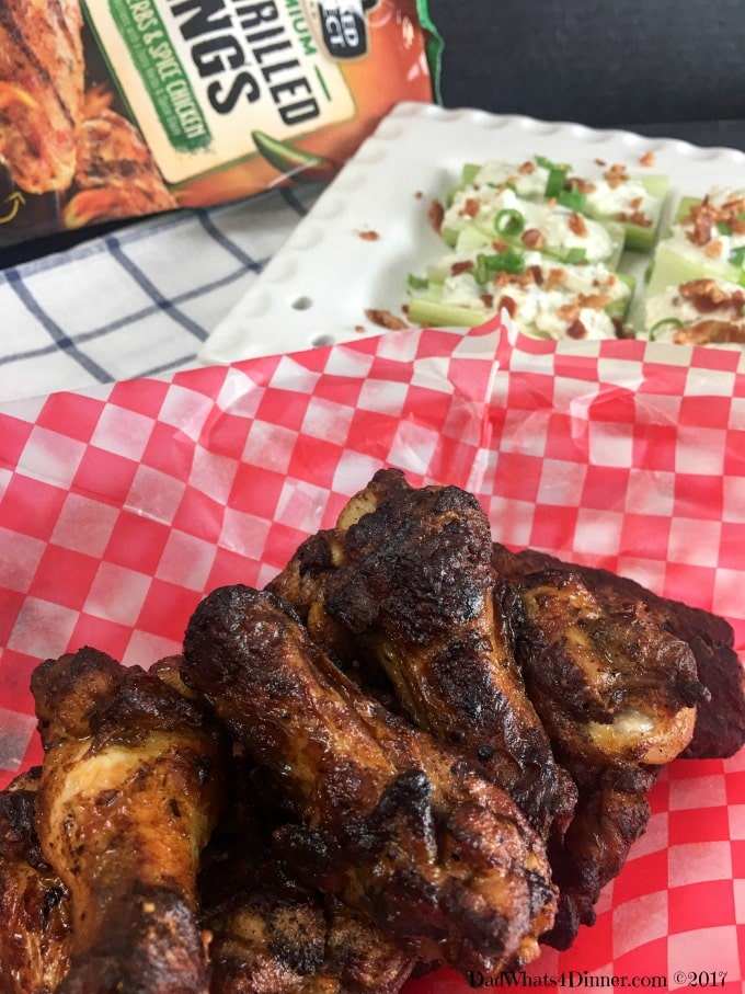 When you want a party side dish for your wings but plain celery and ranch won't do, these Bacon Blue Cheese Stuffed Celery is the way to go. Perfect side for Fire Grilled wings.