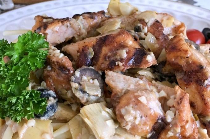 Easy Mediterranean Chicken Pasta