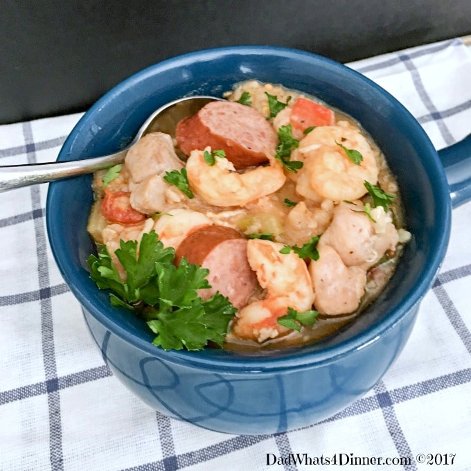 When you need a healthy warm dish, full of flavor and made in the crock pot this recipe is for you. Healthy Crock Pot Jambalaya is perfect for Mardi Gras.