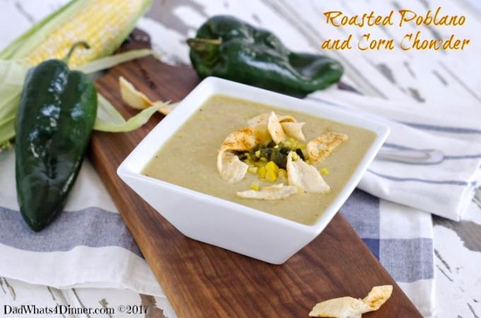 Roasted Poblano and Corn Chowder