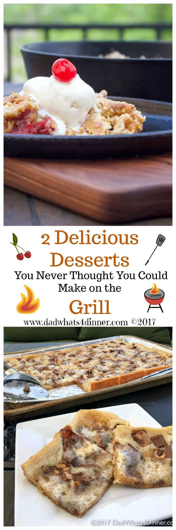 Your family will love these two Unexpected Desserts Made on the Grill made with simple everyday ingredients. Take your grilling to a new level! www.dadwhats4dinner.com #ad #grilling #desserts #familydollar