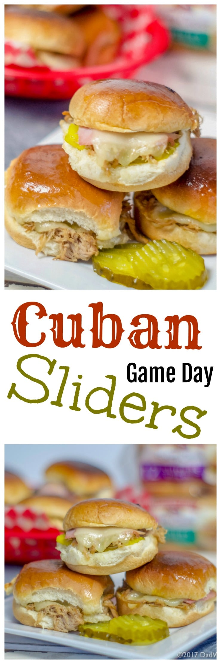 When you want a change from the ordinary hamburger slider, try these Instant Pot Cuban Sliders, sure to be a game day winner. All the flavor of a great Cuban including fall off the bone pork shoulder, ham, swiss cheese, pickles, mustard, on a @PepperidgeFarm® soft slider bun.   #Ad #LittleBunsBigWin #BakedWithCare #Gameday #Sliders #Instantpot