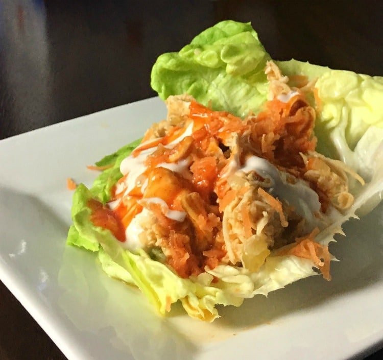 Instant Pot Buffalo Chicken Lettuce Wraps are for when you want the greattaste of buffalo wings but not all the extra calories. Since the chicken is cooked in the Instant Pot it is fast, healthy, and full of flavor.