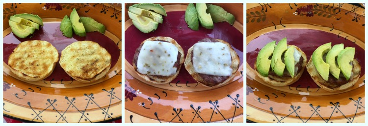 images showing how to assemble two Firecracker Grilled Turkey Burgers