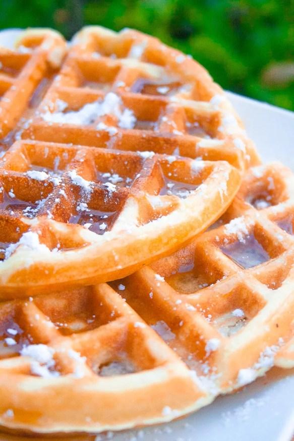 No Butter Buttermilk Waffles