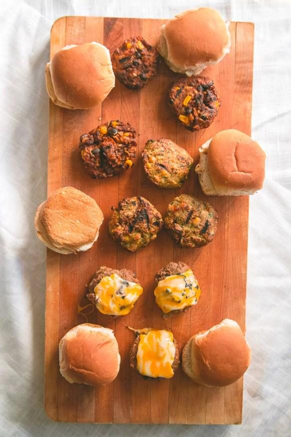 Spicy Veggie Burger Slider Trio #spicy #sliders #vegetarian