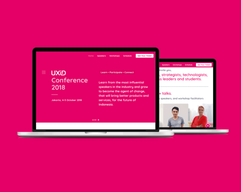 UXID Conference 2018 Landing Page