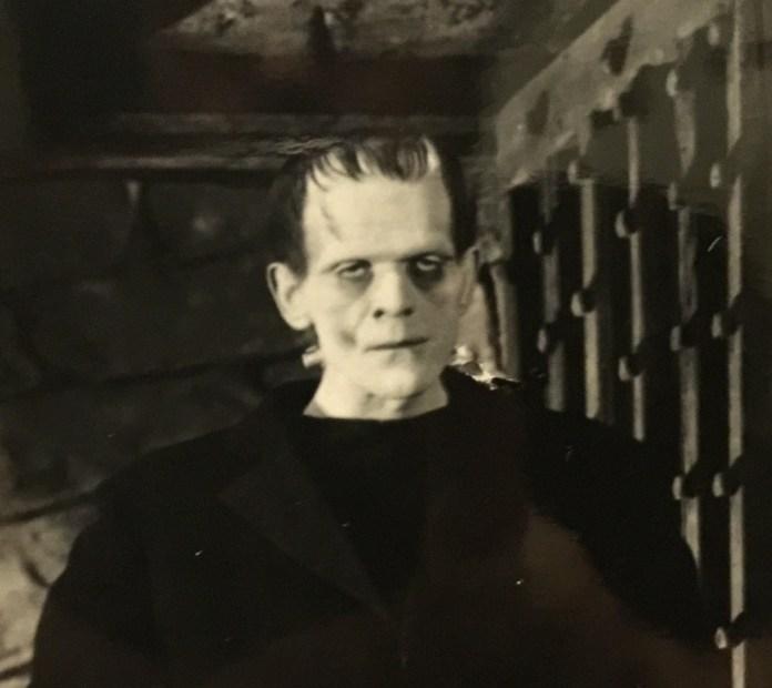 Karloff as Frankenstein