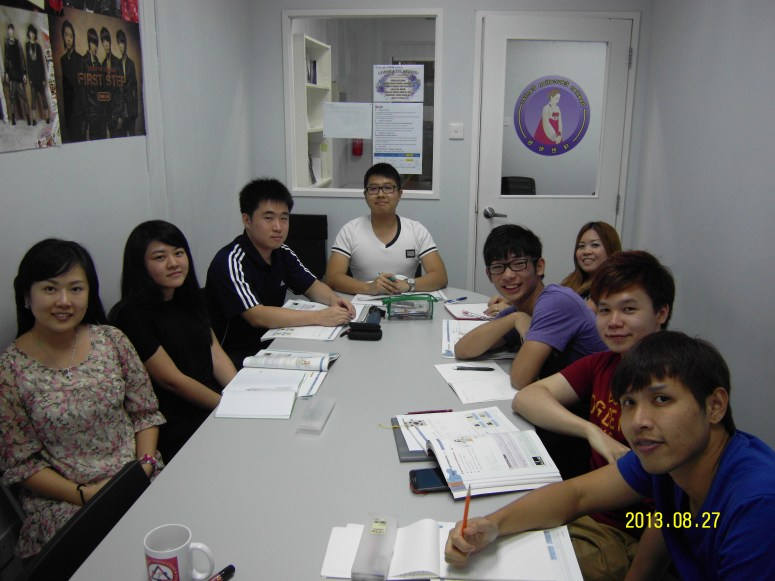 Teacher Ms Oh and her students Learn Easy Korean at Daehan Korean Language Centre