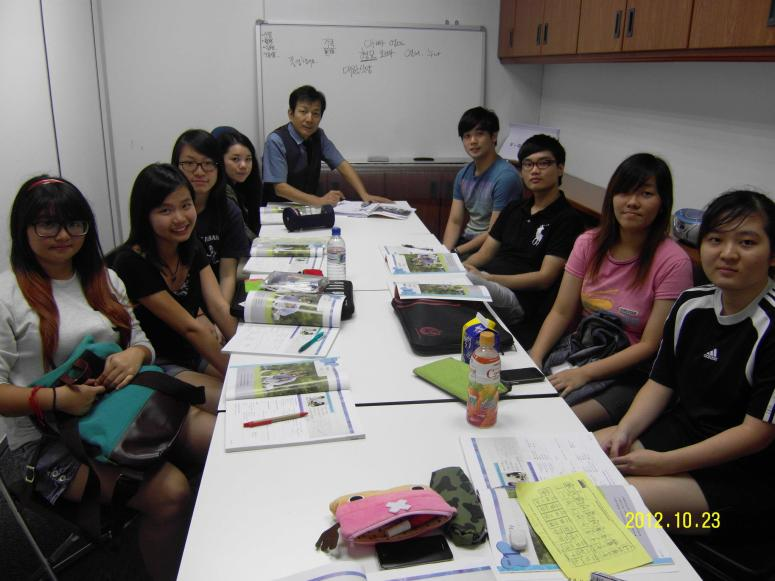 Teacher Harry Quek and his students Learn Easy Korean Language at Daehan Korean Language Centre