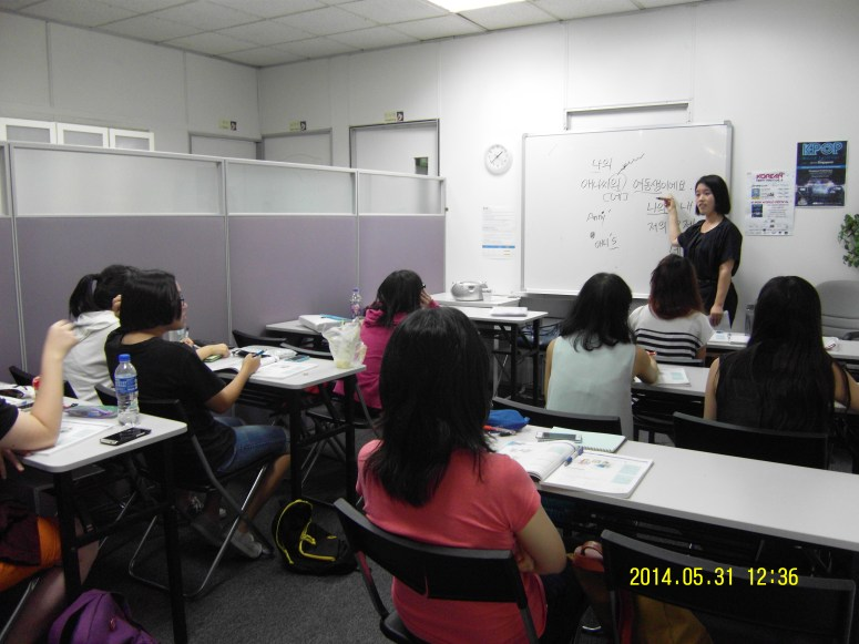 Teacher Ms J H Yang and her students